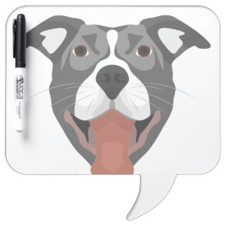 De Hond die van de illustratie Pitbull glimlachen Whiteboards