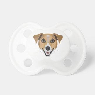De Hond die van de illustratie Terrier glimlachen Fopspeen
