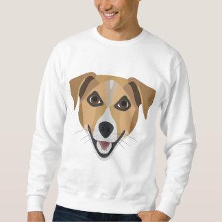 De Hond die van de illustratie Terrier glimlachen Trui