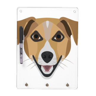 De Hond die van de illustratie Terrier glimlachen Whiteboards