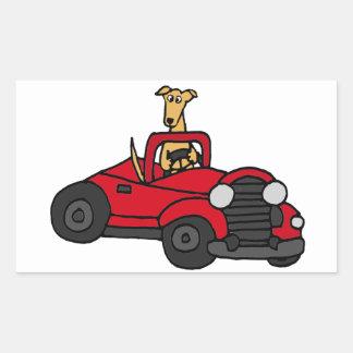 De Hond die van de Windhond van Fawn Rode Rechthoekige Stickers