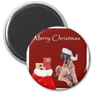 De Hond Great dane van Kerstmis Magneet