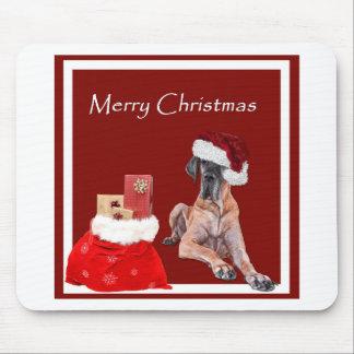 De Hond Great dane van Kerstmis Muismatten