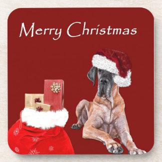 De Hond Great dane van Kerstmis Onderzetter
