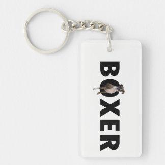 De Hond Keychain van de bokser Sleutelhanger
