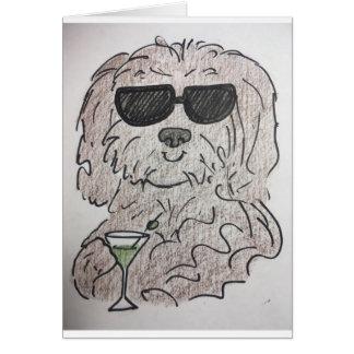 De hond martini van Havanese Briefkaarten 0