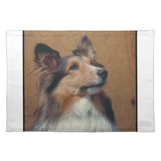 De Hond Placemat van de Herdershond van Shetland