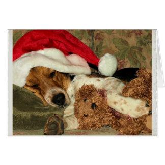 De Hond Snoopy van de Brak van de Kerstman van de Notitiekaart