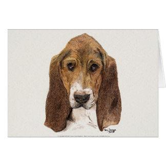 De Hond van Basset Hound, Waterverf Briefkaarten 0