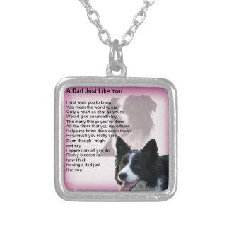 De Hond van border collie - het Gedicht van de Zilver Vergulden Ketting