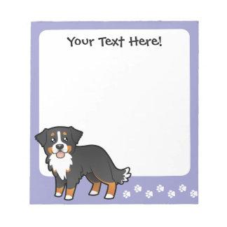 De Hond van de Berg van Bernese van de cartoon Notitieblok