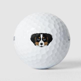 De Hond van de Berg van Bernese van de illustratie Golfballen