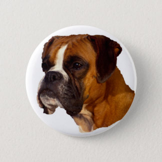 De hond van de bokser ronde button 5,7 cm
