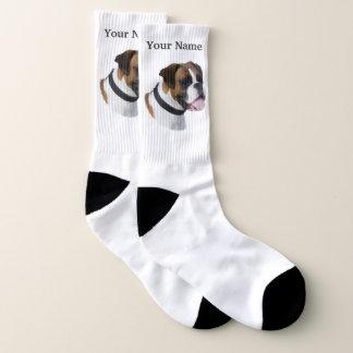 De hond van de bokser sokken
