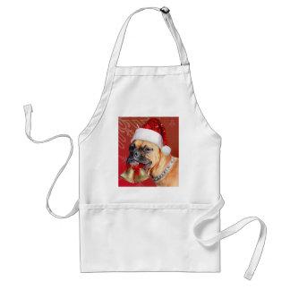 De hond van de Bokser van Kerstmis Standaard Schort