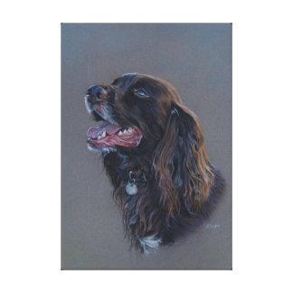 De hond van de Cocker-spaniël van Engish. Het Canvas Afdrukken