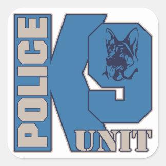 De Hond van de Eenheid van de politie K9 Vierkante Sticker