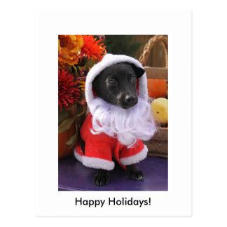 De Hond van de kerstman - het Briefkaart van de