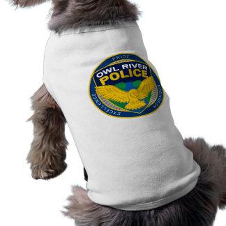 De Hond van de Politie van de Rivier van de uil Mouwloos Hondenshirt