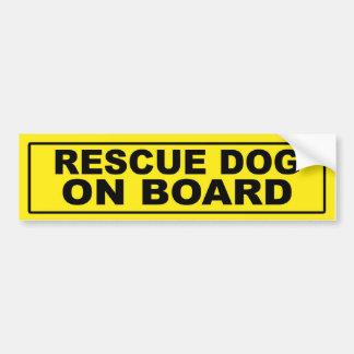 De Hond van de redding aan boord Bumpersticker