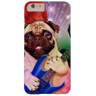 De hond van de rots - pug partij - pug gitaar - barely there iPhone 6 plus hoesje