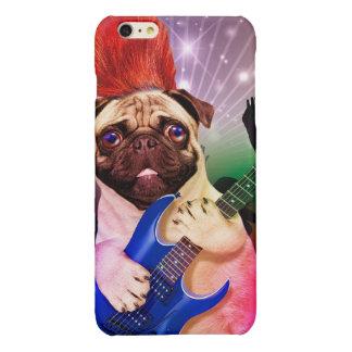 De hond van de rots - pug partij - pug gitaar - iPhone 6 plus hoesje glanzend