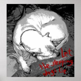 De hond van de slaap (poster) poster