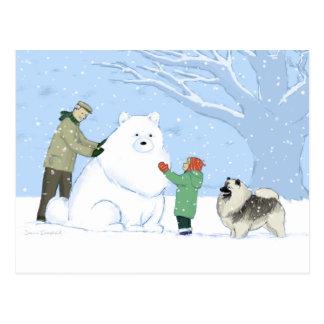 De Hond van de Sneeuw van Keeshond Briefkaart