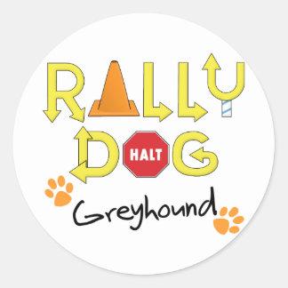 De Hond van de Verzameling van de windhond Ronde Stickers