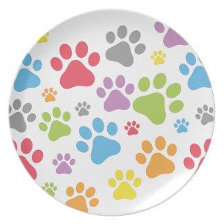De Hond van de voetafdruk Melamine+bord