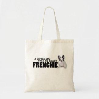 De hond van Frenchie met groot hart Draagtas