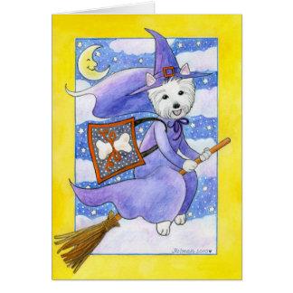 De Hond van Halloween Westie Briefkaarten 0