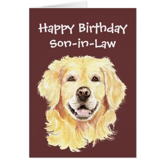 De Hond van het Golden retriever van de Schoonzoon Briefkaarten 0