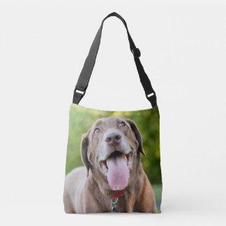 De Hond van het Laboratorium van de chocolade Crossbody Tas