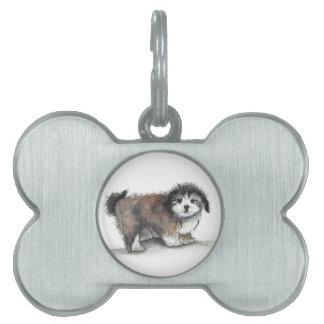 De Hond van het Puppy van Shihtzu, Huisdier Huisdieren Naamplaatje