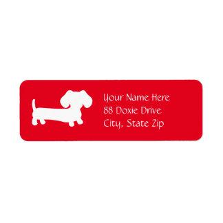 De Hond van het Worstje van de tekkel op het Rode Etiket