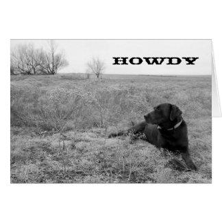De Hond van Howdy in het Wenskaart van het Gebied