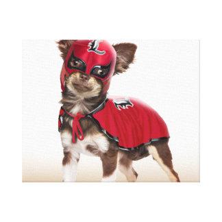 De hond van Lucha libre, grappige chihuahua, Canvas Print