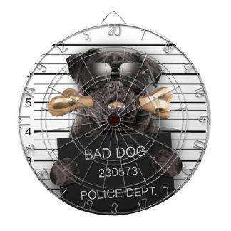 De hond van Mugshot, grappige pug, pug Dartbord
