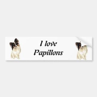 De Hond van Papillon van de waterverf, Huisdier Bumpersticker