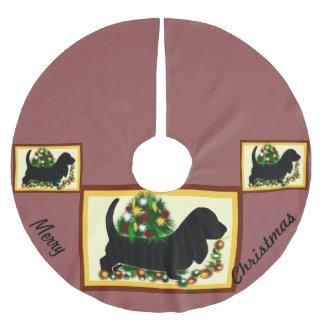 De Hond van Skirt~Basset van de boom Kerstboom Rok
