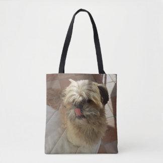 De hond van Tzu van Shih helemaal over - de zak Draagtas