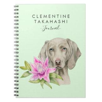 De Hond van Weimaraner en Waterverf | van de Lelie Notitieboek