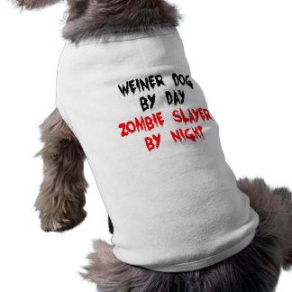 De Hond van Weiner van de Moordenaar van de zombie Shirt