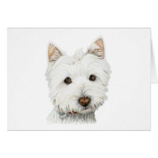 De Hond van Westie van de pastelkleur Kaart