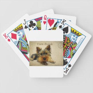 De Hond van Yorkshire Terrier Bicycle Speelkaarten