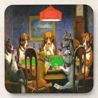 De honden die Cork van de Pook Onderzetters spelen