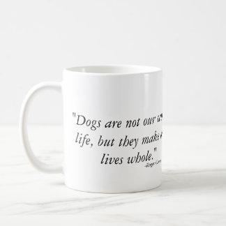 De honden maken ons het levensgeheel - Weimaraner Koffiemok