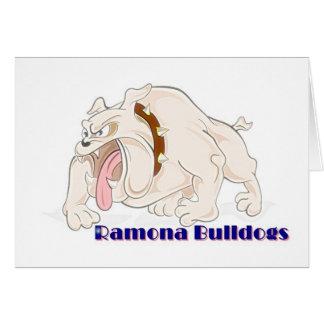 De honden Ramona van de Stier van Kerstmis Wenskaart