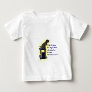 De honden spreken baby t shirts